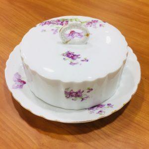 Beurrier rond porcelaine