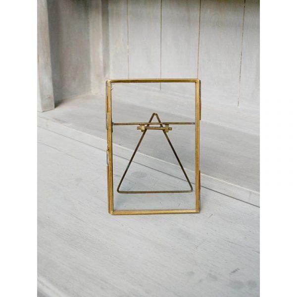Cadre verre et laiton 10x15