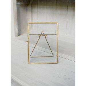 Cadre verre et laiton 12,5x17,5