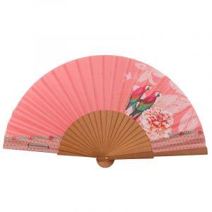 Eventail Macao Rose Vent De Bohème