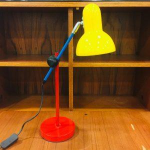 Lampe de bureau tricolore vintage