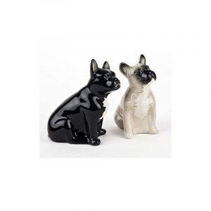 Salière et Poivrière Bouledogue Quail Ceramics