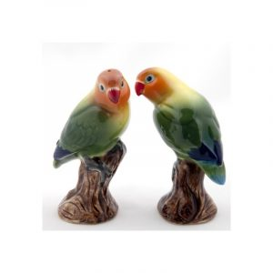 Salière et Poivrière Love Birds Quail Ceramics